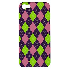 Plaid Pattern Apple Iphone 5 Hardshell Case by Valentinaart