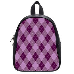 Plaid Pattern School Bags (small)  by Valentinaart