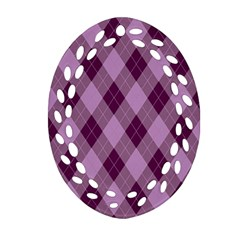Plaid Pattern Ornament (oval Filigree) by Valentinaart