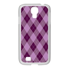 Plaid Pattern Samsung Galaxy S4 I9500/ I9505 Case (white) by Valentinaart