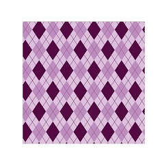 Plaid Pattern Small Satin Scarf (square) by Valentinaart