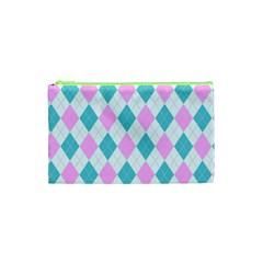 Plaid Pattern Cosmetic Bag (xs)