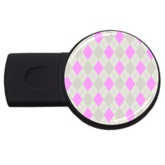 Plaid Pattern Usb Flash Drive Round (2 Gb) by Valentinaart