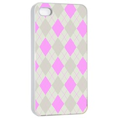 Plaid Pattern Apple Iphone 4/4s Seamless Case (white) by Valentinaart
