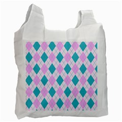 Plaid Pattern Recycle Bag (one Side) by Valentinaart
