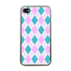 Plaid Pattern Apple Iphone 4 Case (clear) by Valentinaart