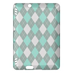 Plaid Pattern Kindle Fire Hdx Hardshell Case by Valentinaart