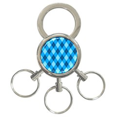 Plaid Pattern 3 Ring Key Chains by Valentinaart