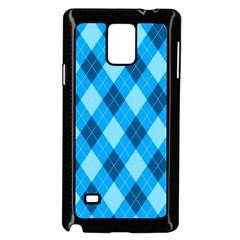 Plaid Pattern Samsung Galaxy Note 4 Case (black) by Valentinaart