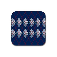 Diamonds And Lasers Argyle  Rubber Square Coaster (4 Pack)  by emilyzragz