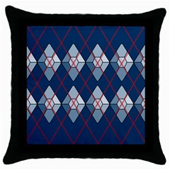 Diamonds And Lasers Argyle  Throw Pillow Case (black) by emilyzragz