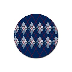 Diamonds And Lasers Argyle  Rubber Round Coaster (4 Pack)  by emilyzragz