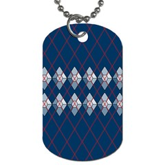 Diamonds And Lasers Argyle  Dog Tag (one Side) by emilyzragz