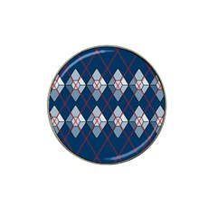 Diamonds And Lasers Argyle  Hat Clip Ball Marker (4 Pack) by emilyzragz