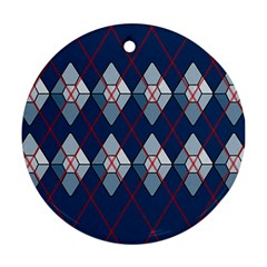 Diamonds And Lasers Argyle  Round Ornament (two Sides) by emilyzragz
