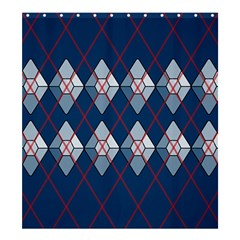 Diamonds And Lasers Argyle  Shower Curtain 66  X 72  (large)  by emilyzragz