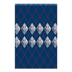 Diamonds And Lasers Argyle  Shower Curtain 48  X 72  (small)  by emilyzragz