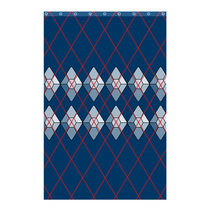 Diamonds and Lasers Argyle  Shower Curtain 48  x 72  (Small)