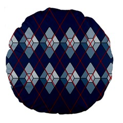 Diamonds And Lasers Argyle  Large 18  Premium Round Cushions by emilyzragz