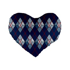 Diamonds And Lasers Argyle  Standard 16  Premium Flano Heart Shape Cushions by emilyzragz