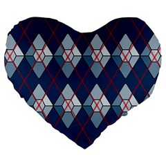 Diamonds And Lasers Argyle  Large 19  Premium Flano Heart Shape Cushions by emilyzragz