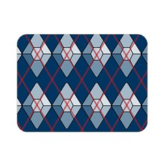 Diamonds And Lasers Argyle  Double Sided Flano Blanket (mini)  by emilyzragz