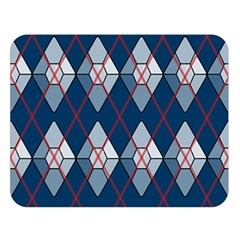 Diamonds And Lasers Argyle  Double Sided Flano Blanket (large)  by emilyzragz