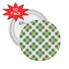 Floral Collage Pattern 2 25  Buttons (10 Pack)  by dflcprints