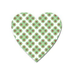 Floral Collage Pattern Heart Magnet by dflcprints