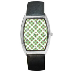Floral Collage Pattern Barrel Style Metal Watch by dflcprints