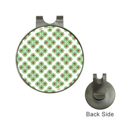 Floral Collage Pattern Hat Clips With Golf Markers by dflcprints