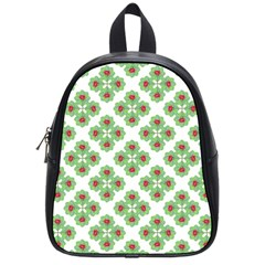Floral Collage Pattern School Bags (small)  by dflcprints
