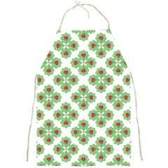 Floral Collage Pattern Full Print Aprons by dflcprints