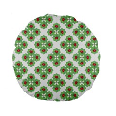Floral Collage Pattern Standard 15  Premium Round Cushions by dflcprints