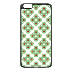 Floral Collage Pattern Apple Iphone 6 Plus/6s Plus Black Enamel Case by dflcprints
