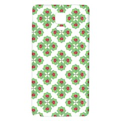 Floral Collage Pattern Galaxy Note 4 Back Case by dflcprints