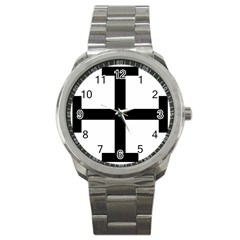 Cross Potent Sport Metal Watch by abbeyz71