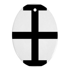 Cross Potent Oval Ornament (two Sides) by abbeyz71