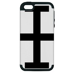 Cross Potent Apple Iphone 5 Hardshell Case (pc+silicone) by abbeyz71