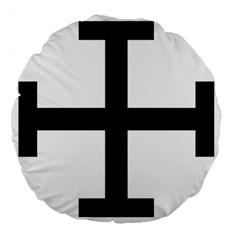 Cross Potent Large 18  Premium Flano Round Cushions by abbeyz71
