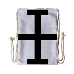 Cross Potent  Drawstring Bag (small) by abbeyz71