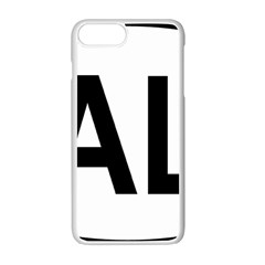 Albania Country Code  Apple Iphone 7 Plus White Seamless Case by abbeyz71