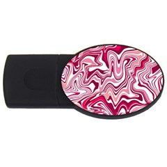 Pink Marble Pattern Usb Flash Drive Oval (4 Gb) by tarastyle