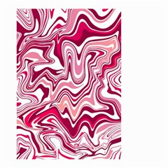 Pink Marble Pattern Small Garden Flag (two Sides) by tarastyle