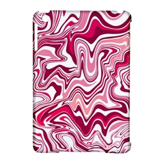 Pink Marble Pattern Apple iPad Mini Hardshell Case (Compatible with Smart Cover) by tarastyle
