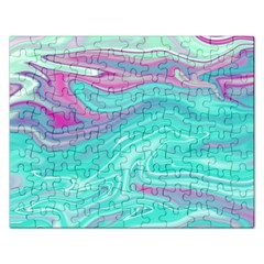 Iridescent Marble Pattern Rectangular Jigsaw Puzzl by tarastyle