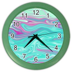 Iridescent Marble Pattern Color Wall Clocks by tarastyle