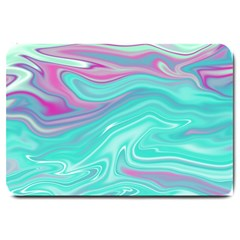 Iridescent Marble Pattern Large Doormat  by tarastyle