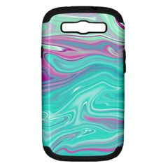 Iridescent Marble Pattern Samsung Galaxy S Iii Hardshell Case (pc+silicone) by tarastyle
