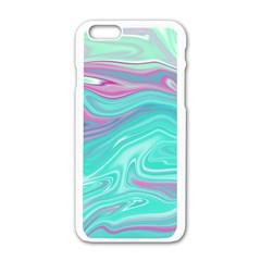 Iridescent Marble Pattern Apple Iphone 6/6s White Enamel Case by tarastyle